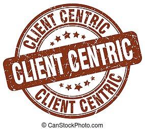 client centric brown grunge stamp