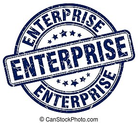 enterprise blue grunge stamp