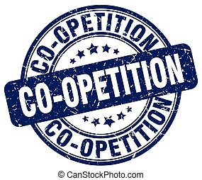 co-opetition blue grunge stamp