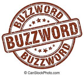 buzzword brown grunge stamp