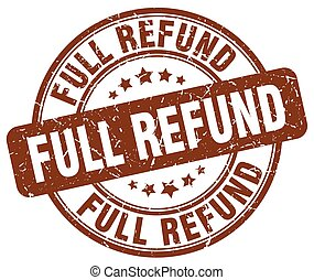 full refund brown grunge stamp