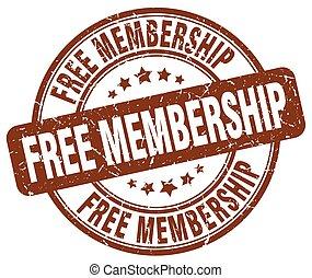 free membership brown grunge stamp