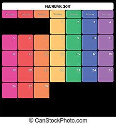 Februar 2017 deutch - February 2017 Planner Calendar big...