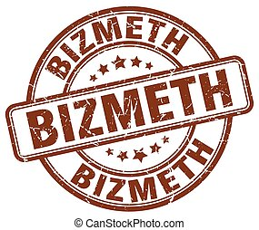 bizmeth brown grunge stamp