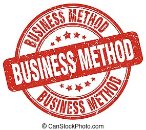 business method red grunge stamp
