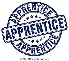 apprentice blue grunge stamp