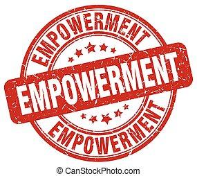 empowerment red grunge stamp