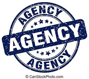 agency blue grunge stamp