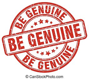 be genuine red grunge stamp