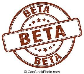 beta brown grunge stamp