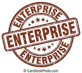 enterprise brown grunge stamp