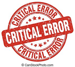 critical error red grunge stamp