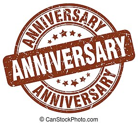 anniversary brown grunge stamp