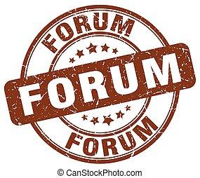 forum brown grunge stamp