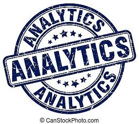 analytics blue grunge stamp
