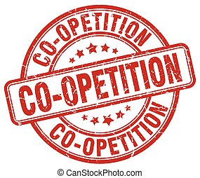 co-opetition red grunge stamp