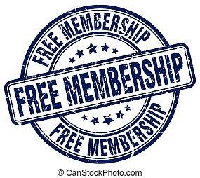 free membership blue grunge stamp