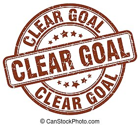 clear goal brown grunge stamp