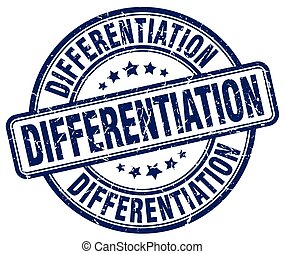 differentiation blue grunge stamp