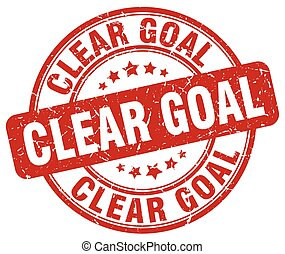 clear goal red grunge stamp