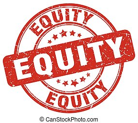 equity red grunge stamp