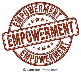empowerment brown grunge stamp