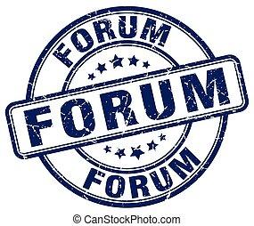 forum blue grunge stamp