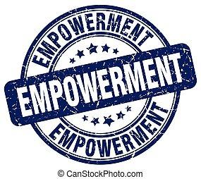 empowerment blue grunge stamp