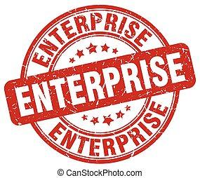 enterprise red grunge stamp