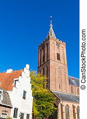 Big Church and old house, Naarden, Netherlands