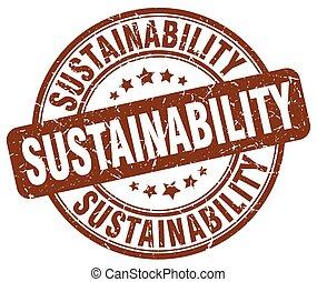 sustainability brown grunge stamp