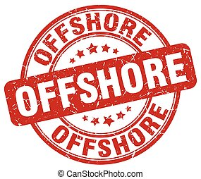 offshore red grunge stamp