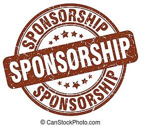 sponsorship brown grunge stamp