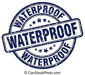 waterproof blue grunge stamp