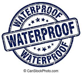 waterproof blue grunge stamp