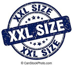 xxl size blue grunge stamp