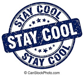stay cool blue grunge stamp
