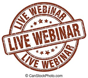 live webinar brown grunge stamp