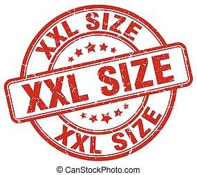 xxl size red grunge stamp