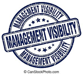 management visibility blue grunge stamp