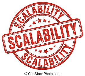 scalability red grunge stamp