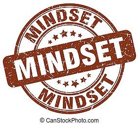 mindset brown grunge stamp
