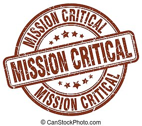 mission critical brown grunge stamp