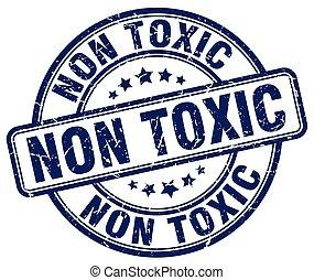 non toxic blue grunge stamp