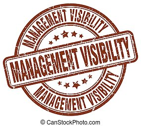 management visibility brown grunge stamp