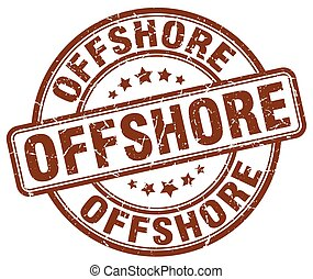 offshore brown grunge stamp