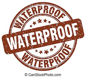 waterproof brown grunge stamp