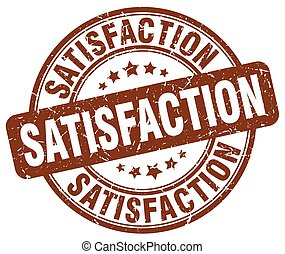 satisfaction brown grunge stamp