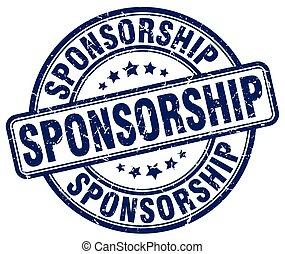 sponsorship blue grunge stamp