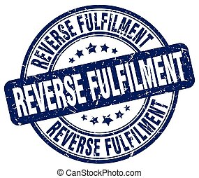 reverse fulfilment blue grunge stamp